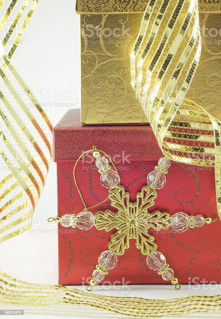 Christmas Presents with Ornament royalty free stockfoto