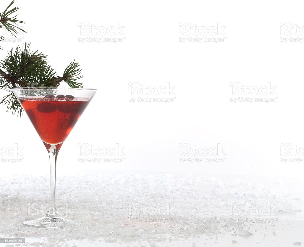 Christmas Punch and Snow Front View royalty-free stock photo