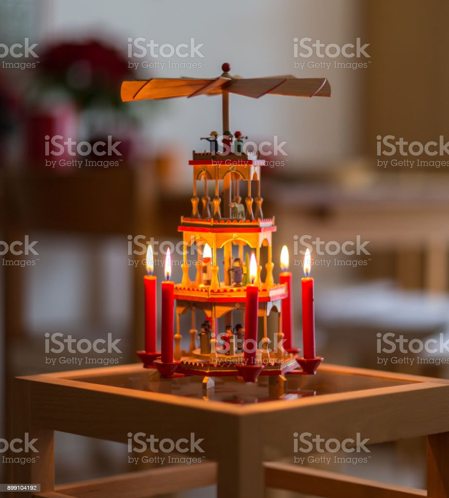 Weihnachts Pyramide stock photo