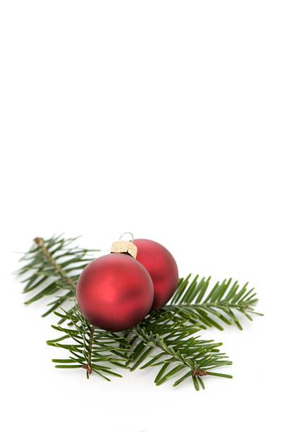 Christmas Red Balls stock photo
