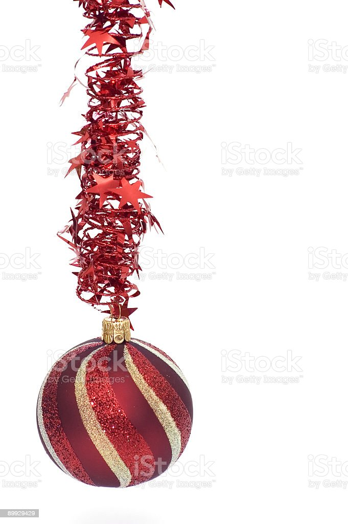 Christmas Red Ornament stock photo