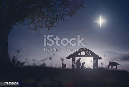 istock Christmas religious nativity concept 1179808009