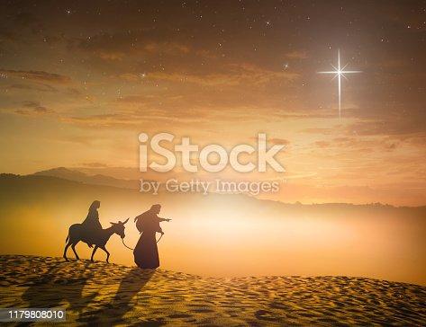 istock Christmas religious nativity concept 1179808010
