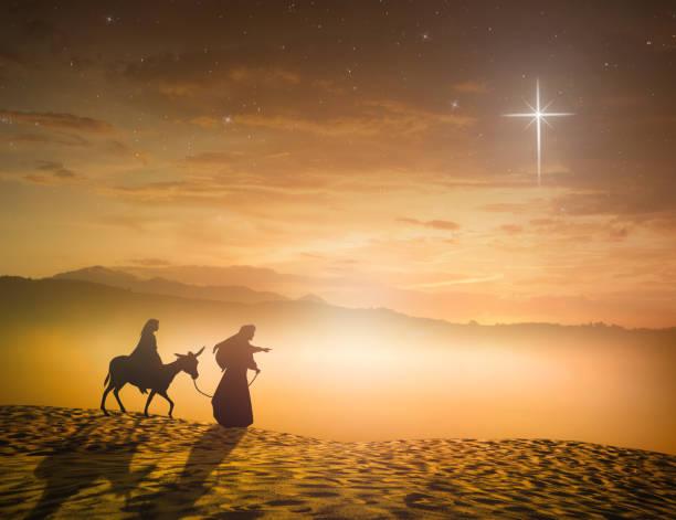 Christmas religious nativity concept stock photo
