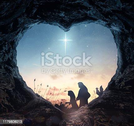 istock Christmas religious nativity concept 1179808013