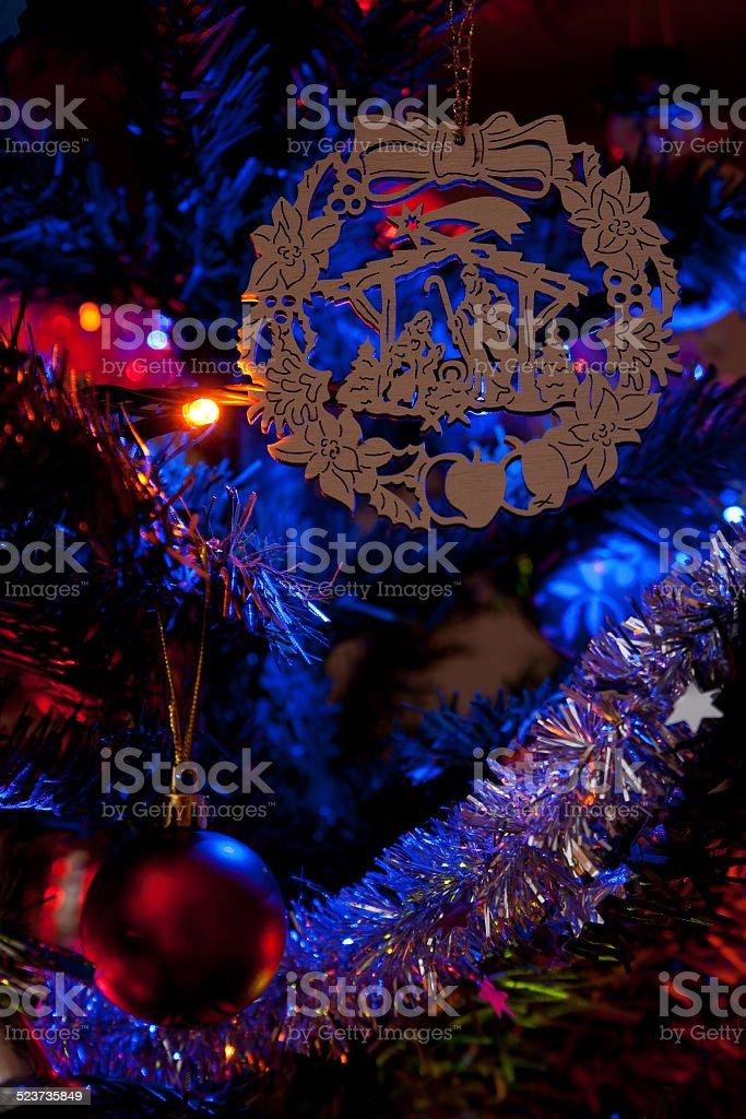 Christmas religious ornament stock photo
