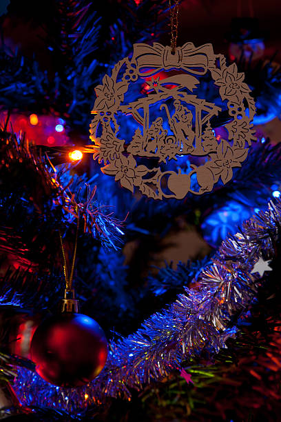 Christmas religious ornament stock photo