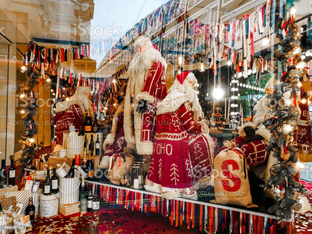 Weihnachten Einzelhandel Anzeigen Im Schaufenster Des Kaufhauses ...