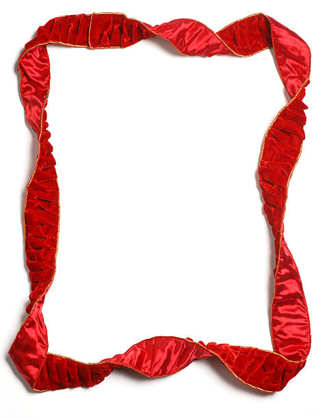 Christmas Ribbon Frame stock photo