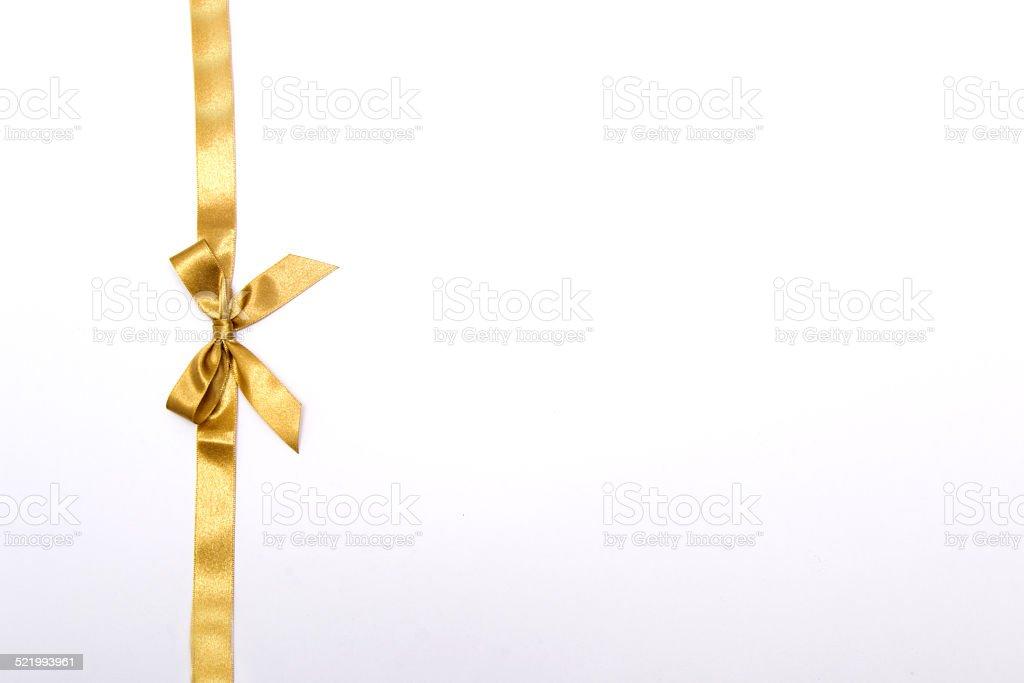 Christmas ribbon on white background stock photo