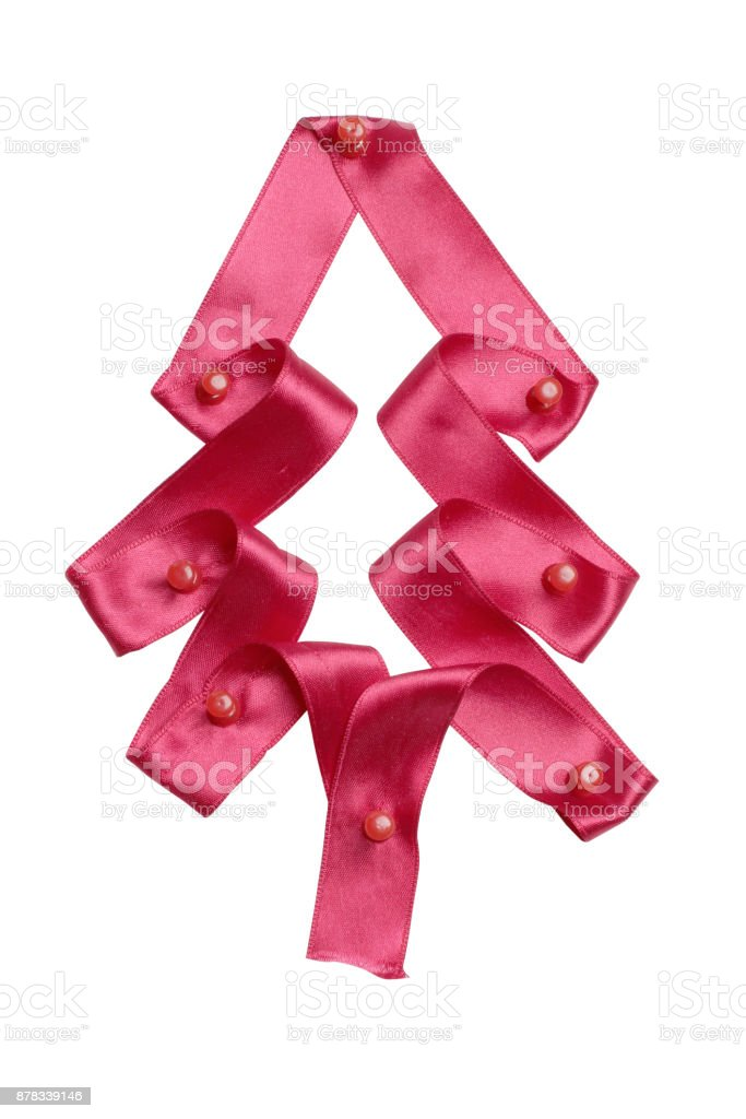Christmas ribbons stock photo