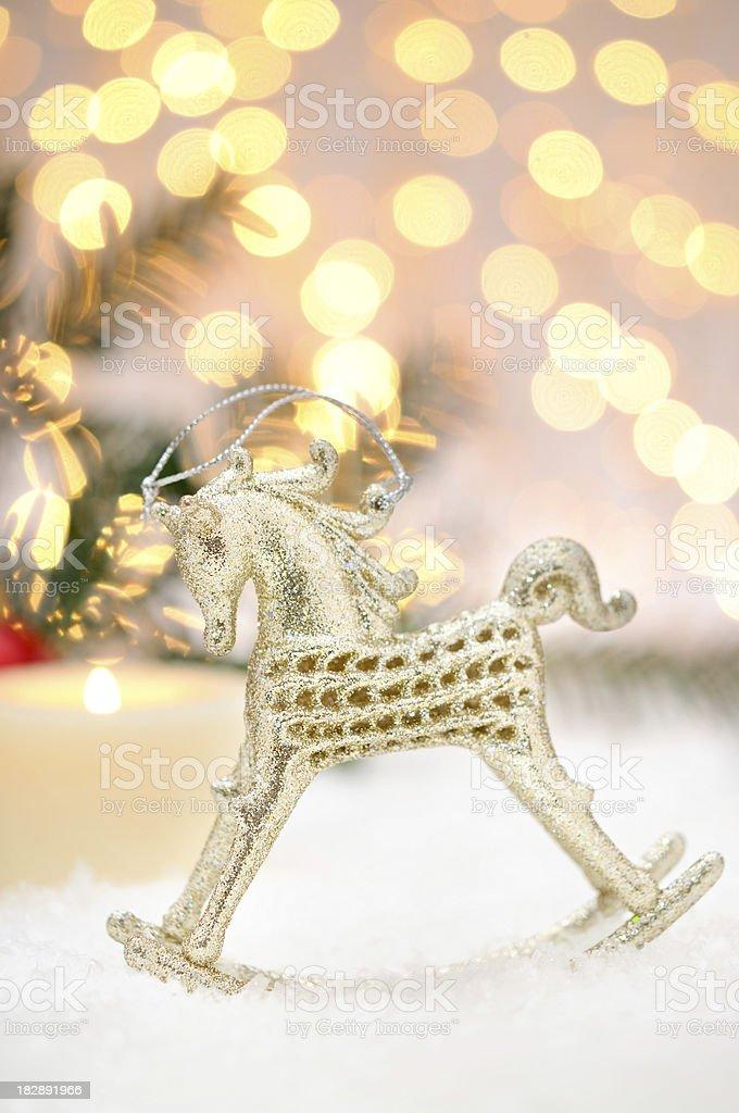 Christmas Rocking Horse royalty-free stock photo