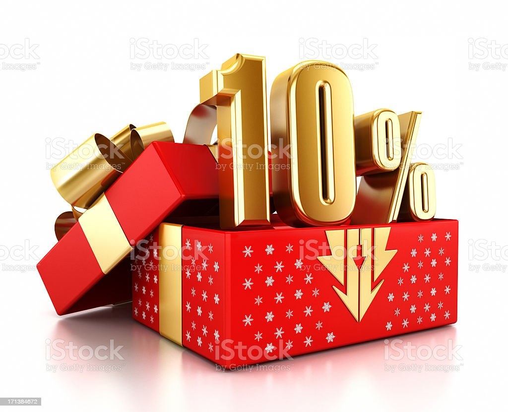 Christmas sale - 10% off royalty-free stock photo