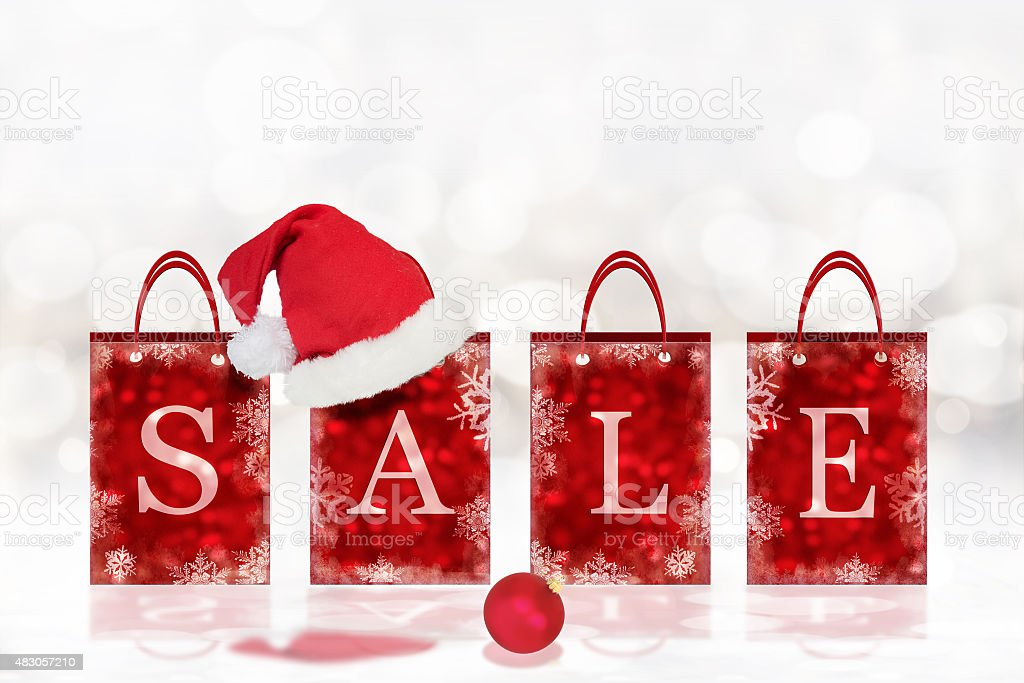 Christmas sale background stock photo