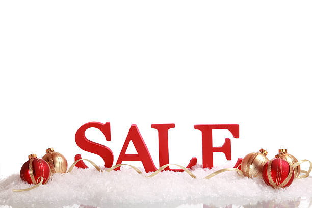 Christmas Sale Event stock photo