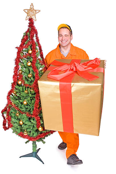 クリスマスのセールスマン ストックフォト
