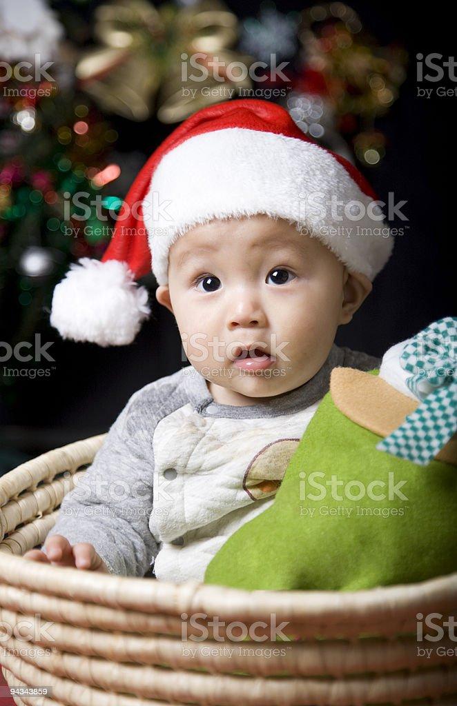 christmas santa baby royalty-free stock photo