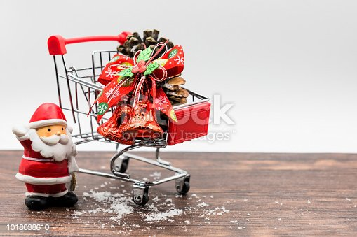 istock Christmas santa claus and shopping concept 1018038610