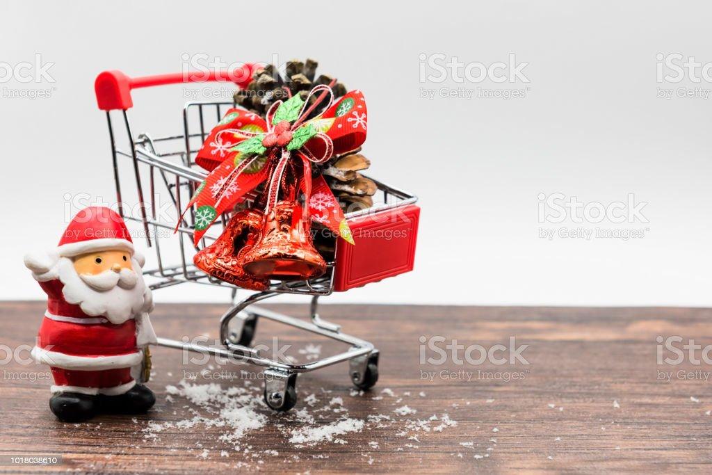 Weihnachten Weihnachtsmann und shopping-Konzept – Foto
