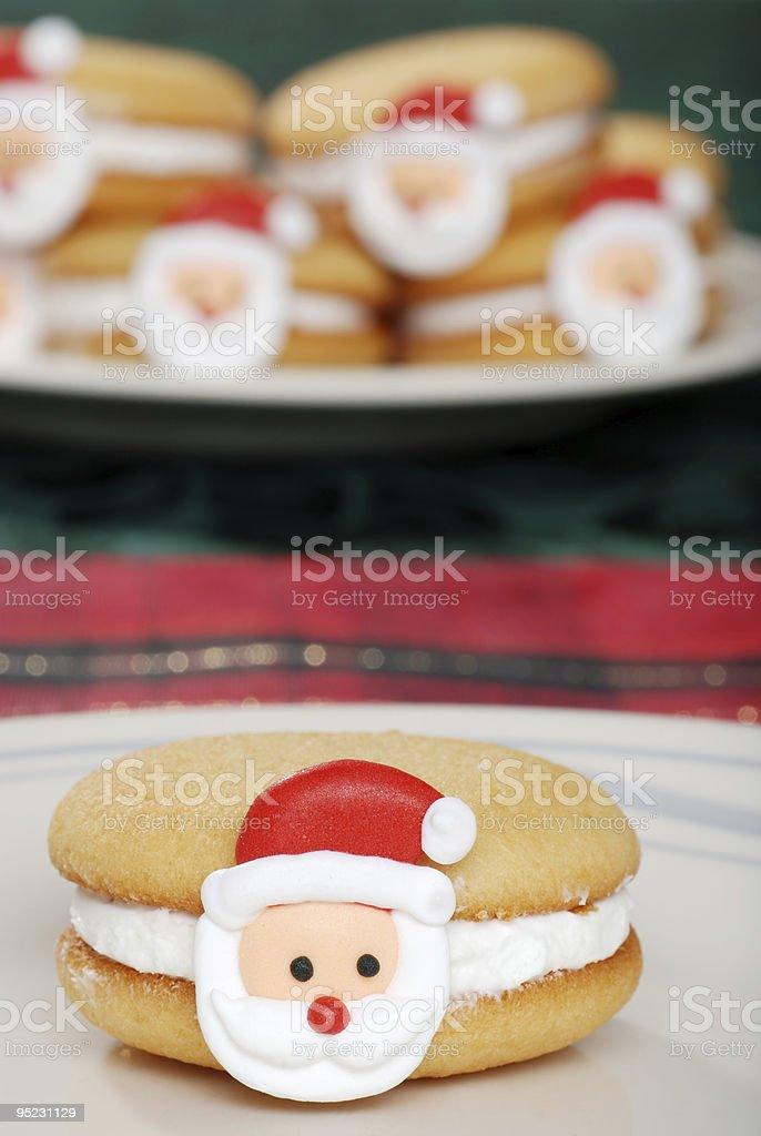 Christmas Santa Face Cookies royalty-free stock photo