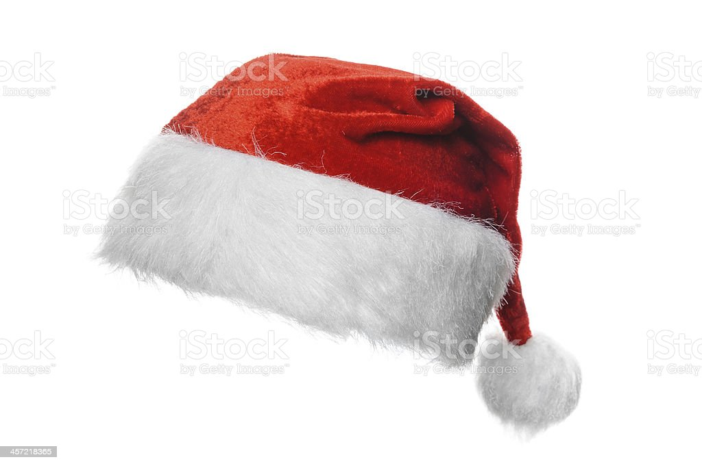 1ccf5501e46d7 A Christmas Santa hat on a white background royalty-free stock photo