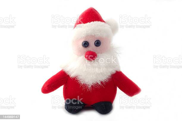 Sweet little santaclaus isolated on a white background