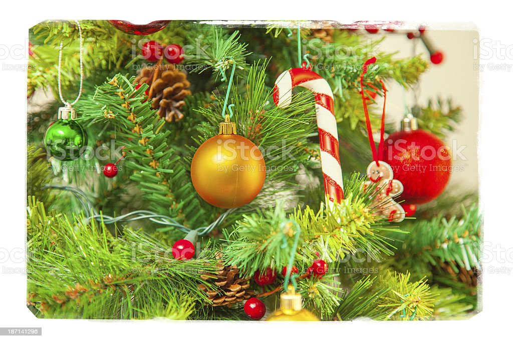 Christmas scene with grunge frame royalty-free stock photo