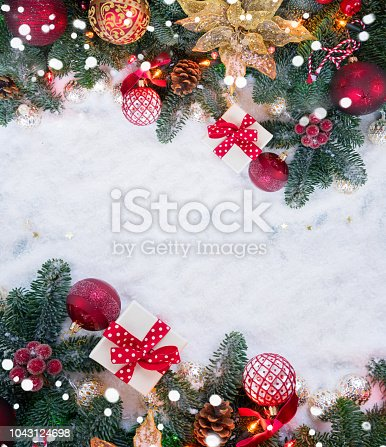 istock Christmas scene with snow 1043124698