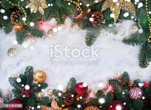 1020742072istockphoto Christmas scene with snow 1061054086