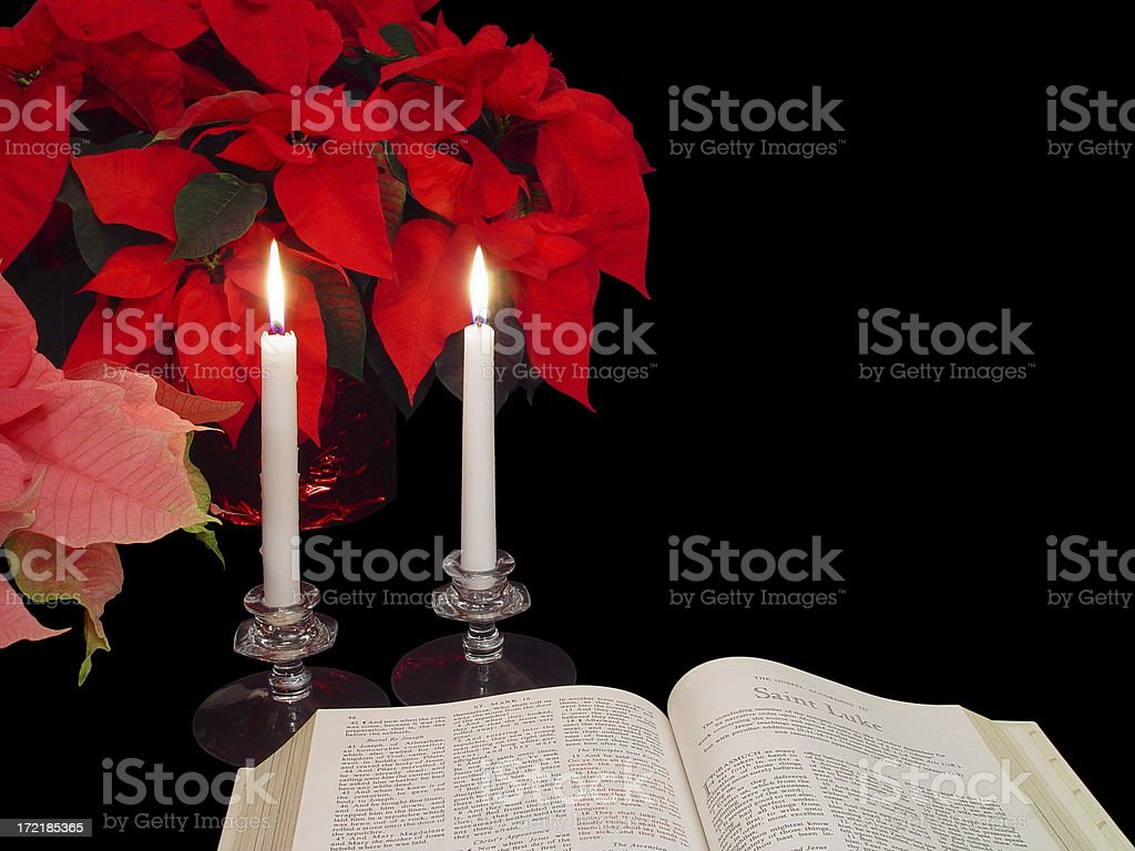 Christmas Scripture royalty-free stock photo