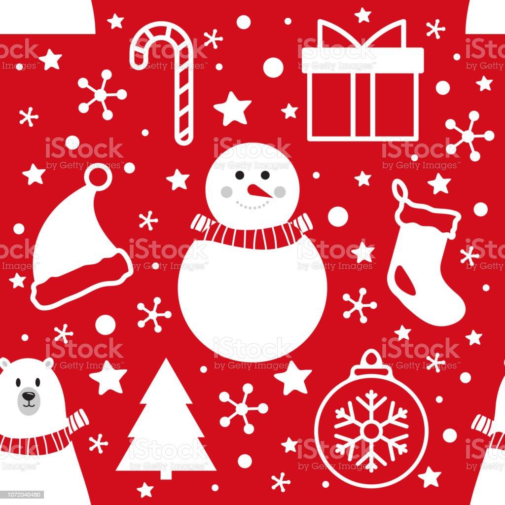 Christmas seamless pattern. - foto stock
