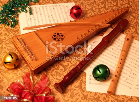 istock Christmas Season Bowed Psaltery with Recorders 92681285