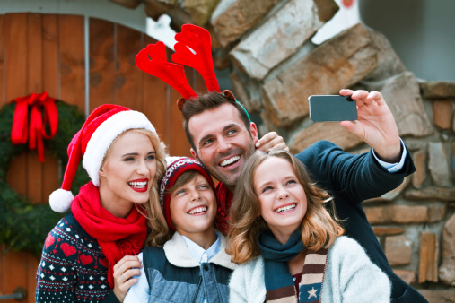 Christmas Selfie Stock Photo - Download Image Now