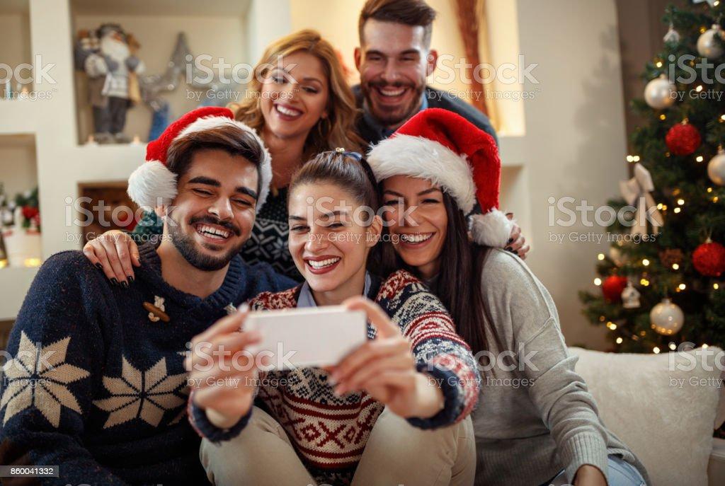 Weihnachten selfie – Foto