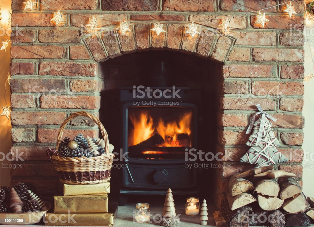 Christmas setting background stock photo