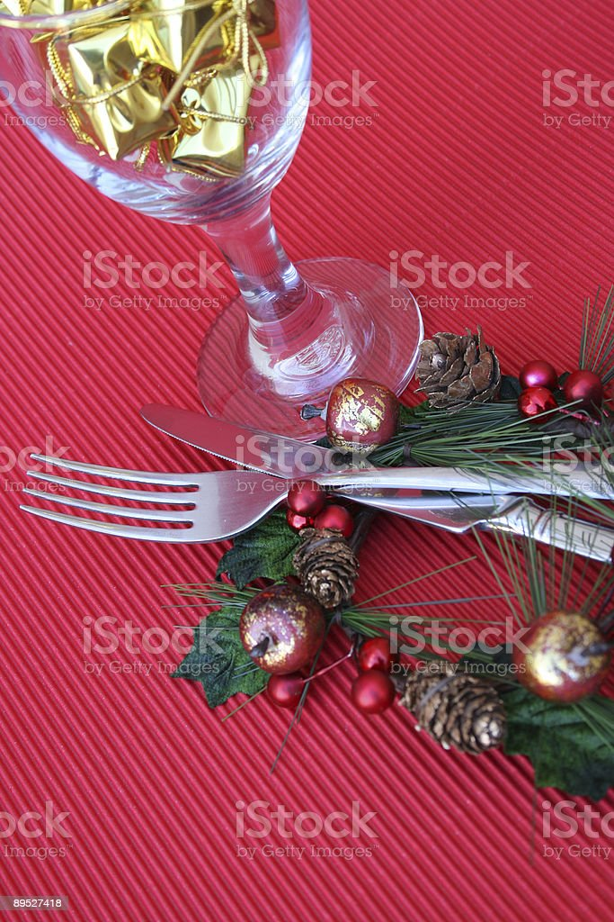 Christmas Setting royalty-free stock photo