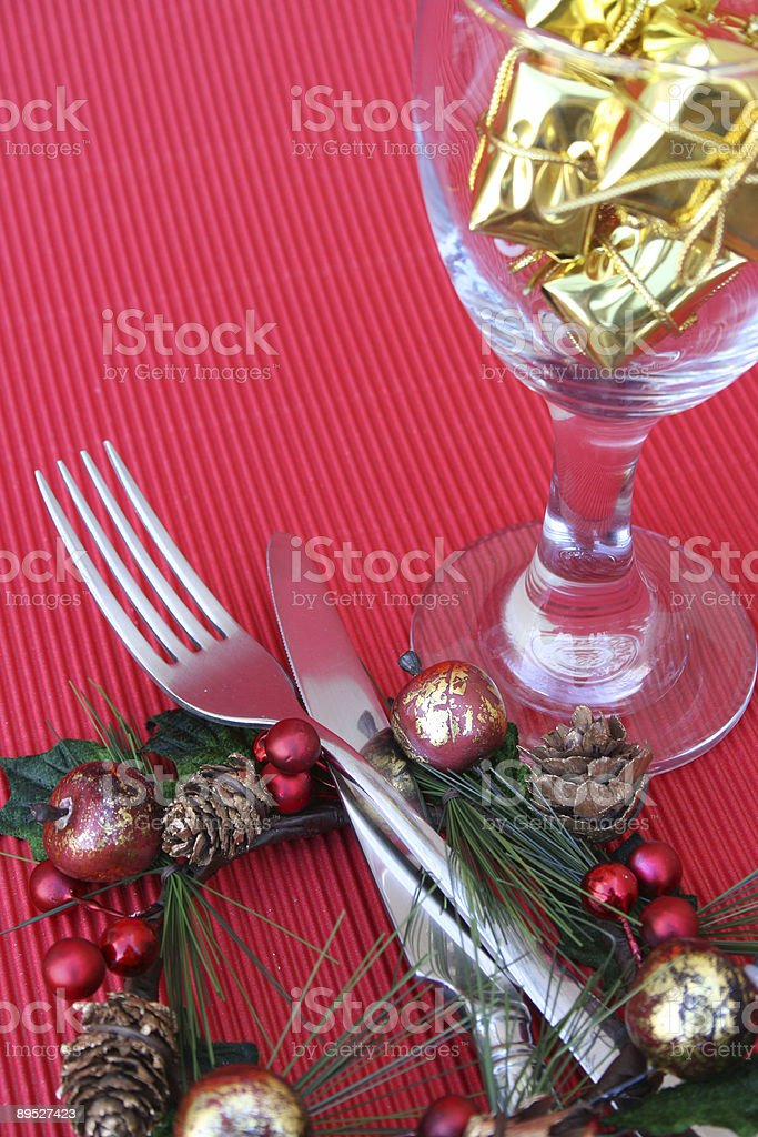 Christmas Setting royalty-free stock photo
