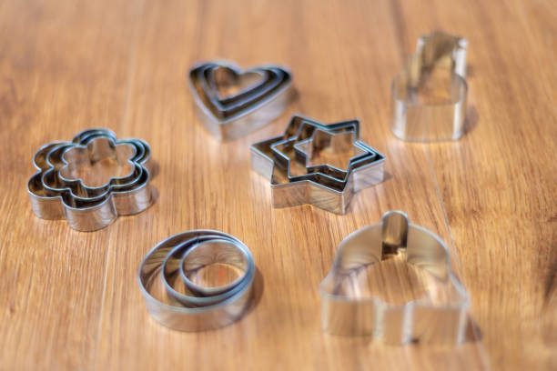 christmas shaped pastry cutters - christmas stock photos and pictures