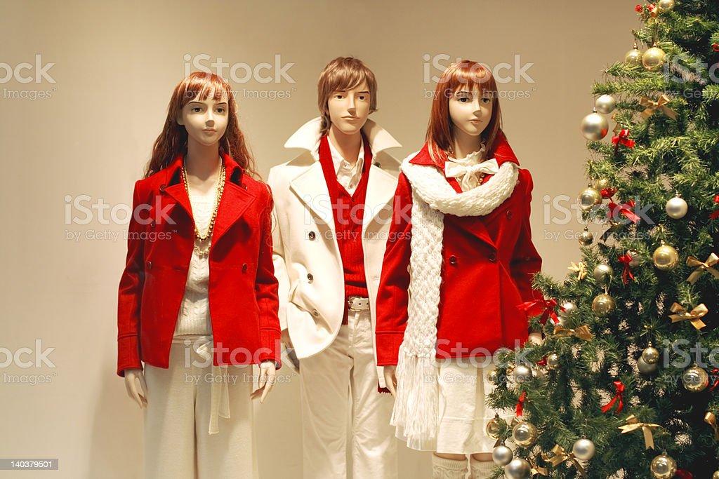 Christmas shop window royalty-free stock photo