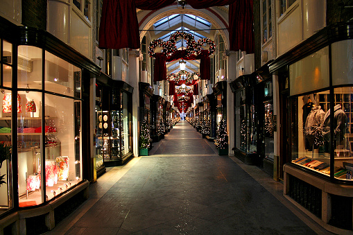 Christmas shopping gallery in London