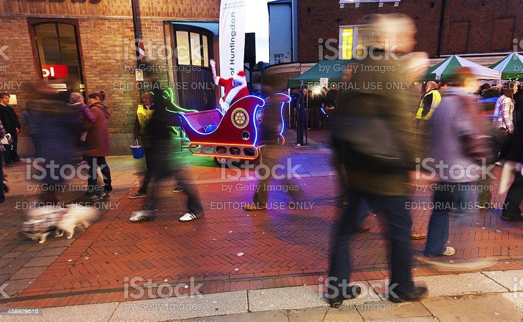 Christmas shopping Huntingdon royalty-free stock photo