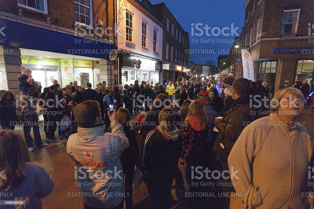 Christmas shopping Huntingdon royalty-free stock photo