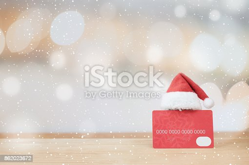 istock Christmas shopping idea concept background. 862023672