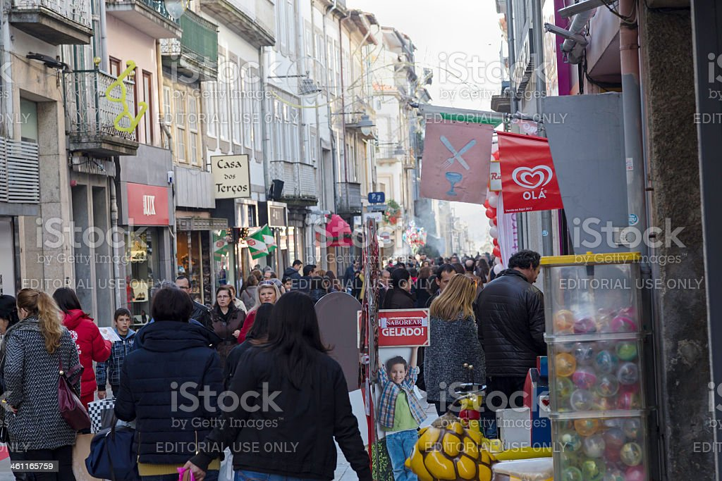 4f9b655d0e732d Christmas Shopping In Braga Portugal Stock Photo - Download Image ...