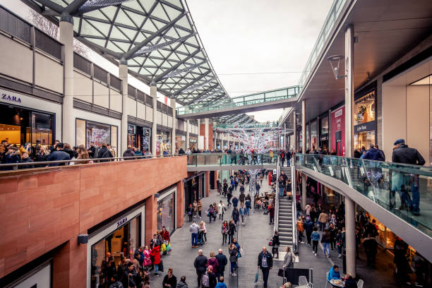 Christmas Shopping in Liverpool stock photo