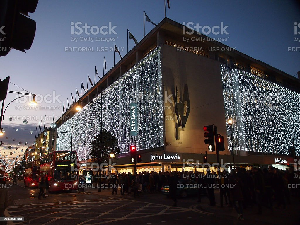 Christmas shopping in London stock photo