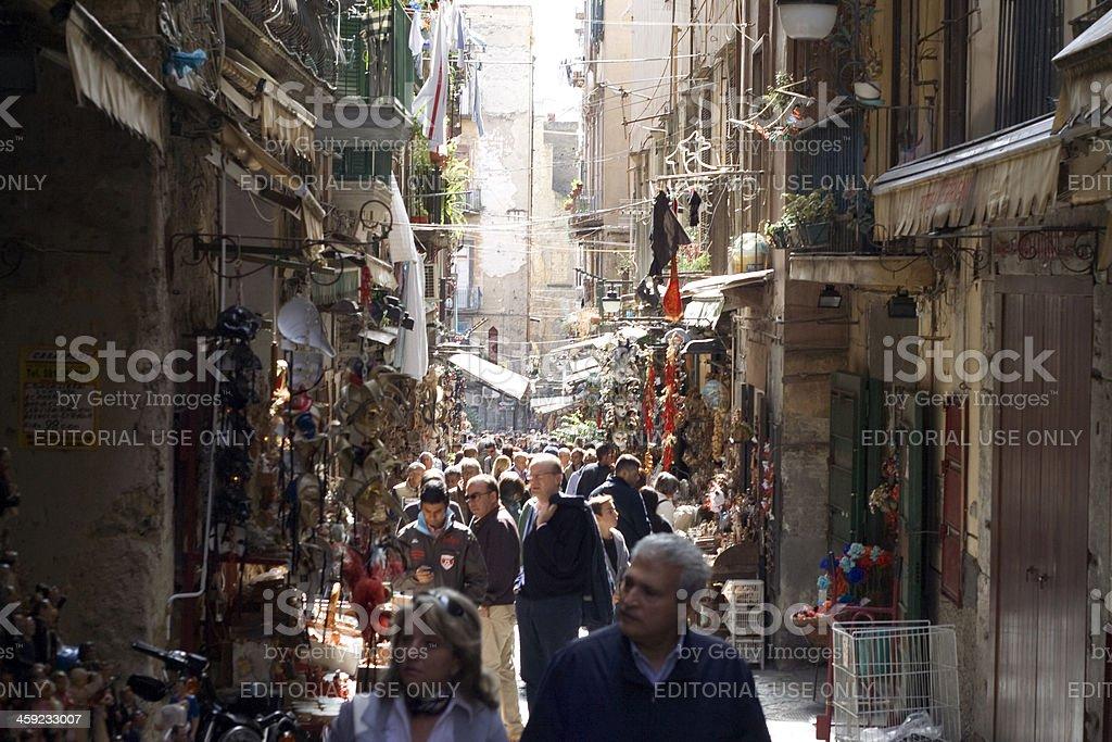 Natale Shopping a Napoli, Italia - foto stock
