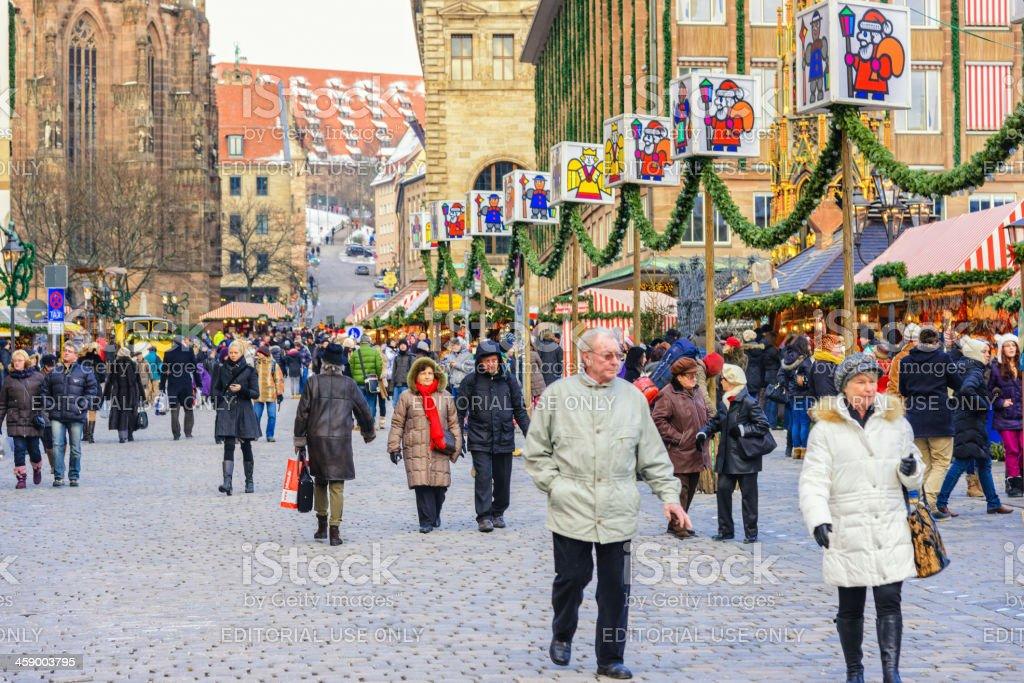 Christmas Shopping in Nürnberg (Nuremberg) royalty-free stock photo