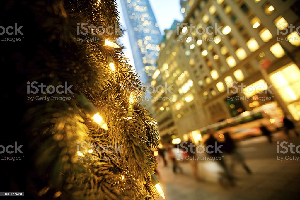 Christmas Shopping NYC royalty-free stock photo