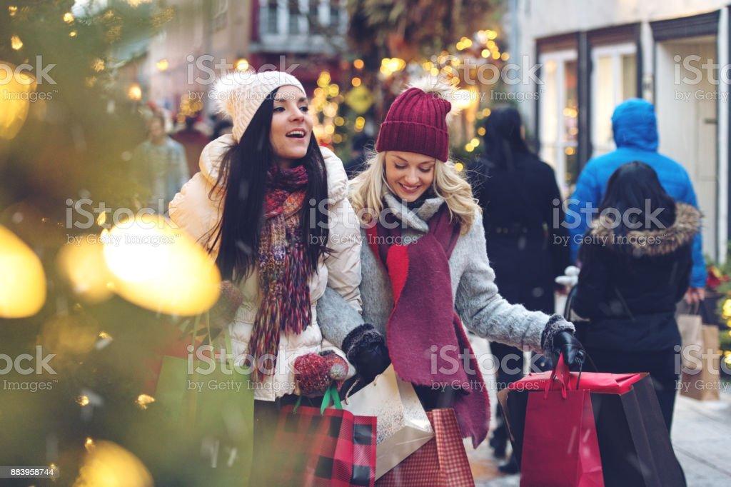 Het winkelen van Kerstmis foto